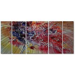 Pol Ledent Colors of the Tree 5 panel Metal Wall Art