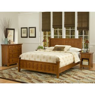 Home Styles Arts & Crafts Cottage Oak 3 piece Queen size Bedroom Set