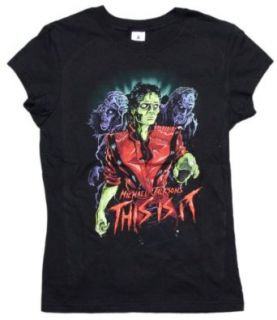 Michael Jackson Zombie Juniors T shirt in Black, Size X