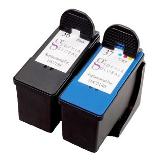 Sophia Global Lexmark 36 and 37 Ink Cartridges (Pack of 2