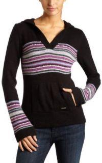 Roxy Juniors Radio Song Pullover Sweater,Black,X Small