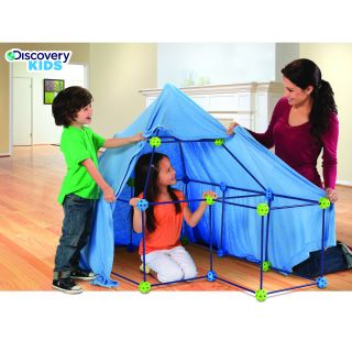 Discovery Kids 77 piece Build and Play Construction Fort Set