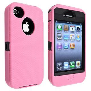 This item BasAcc Black Hard/ Pink Skin Hybrid Case for Apple iPhone 4