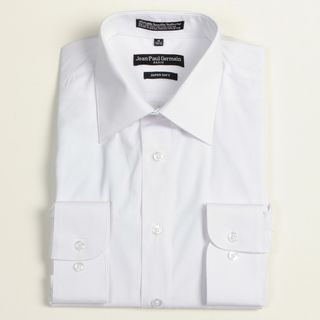 Jean Paul Germain Mens White Convertible Cuff Dress Shirt