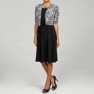 Perceptions Womens Cream/ Black Two piece Dress