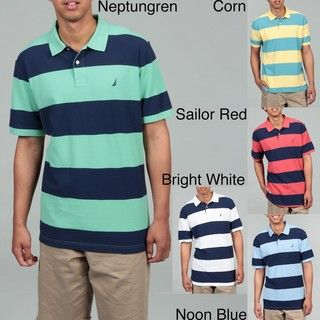 Nautica Mens Striped Polo Shirt