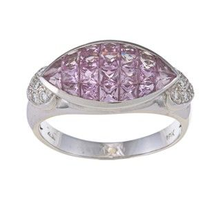 Encore by Le Vian 18k Gold Pink Sapphire and 1/6ct TDW Diamond Ring (H