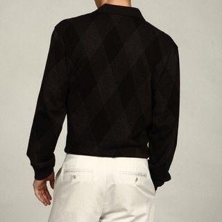 Van Heusen Mens Black Argyle Shirt