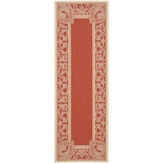 Safavieh Red/ Natural Indoor Outdoor Rug (22 x 14)