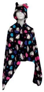 Hello Kitty Hooded Plush Snugglie Blanket Robe for girls