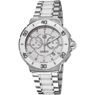 Tag Heuer Womens Formula 1 Stainless Steel White Ceramic Watch