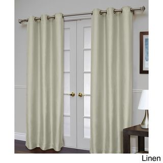 Jaclyn Love Blackout Antique Satin 84 inch Curtain Panel Pair