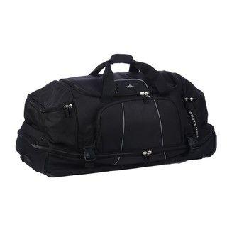 High Sierra Black Elevate 34 inch Rolling Drop Bottom Duffel Bag