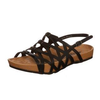 Kalso Earth Womens Elegant Black Leather Sandals