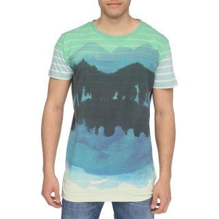 DIESEL T Shirt Time Homme Vert, bleu et noir   Achat / Vente T SHIRT
