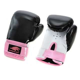 Lion Martial Arts Womens Pink/ Black 12 oz Boxing Gloves