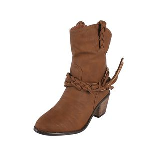 Liliana by Beston Womens Couture Mid calf Cowgirl Style Boots