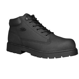 Lugz Mens Drifter Black Leather Scuff proof Steel toe Boots