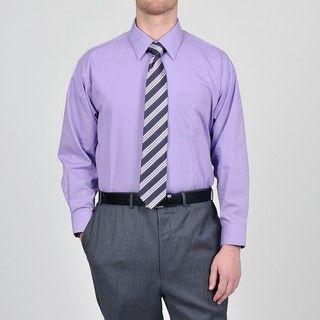 Alexander Julian Colours Mens Purple Heart Dress Shirt and Tie Set