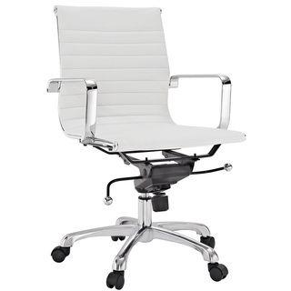 Malibu Mid back White Vinyl Office Chair