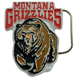 Montana Grizzlies Pewter Team Logo Belt Buckle Sports