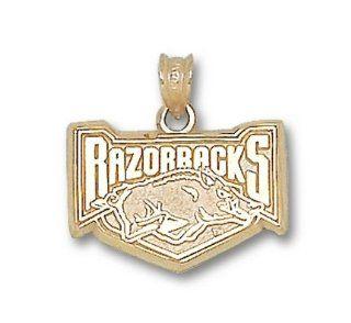 Arkansas Razorbacks 5/8 Razorbacks Hog Pendant   10KT
