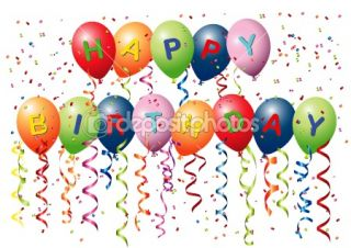 Happy Birthday Balloons  Vector stock © HS Photos #5851449