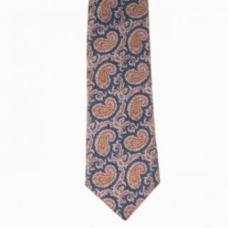Walter Kelly Mens Paisley 100% Silk Neck Tie Blue One Size