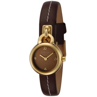 Fontenay Womens Brown Dial Brown Leather Watch