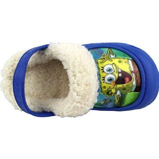 Blue Toddler Boys Fleece Lined Clogs Shoes 5/6 9/10 (5/6) Shoes