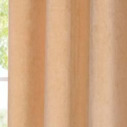 Signature Grommet Wheat Velvet 96 Inch Curtain Panel