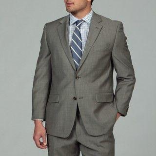 MICHAEL Michael Kors Mens Taupe 2 button Wool Suit