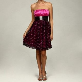 Sequin Hearts Juniors Strapless Dress
