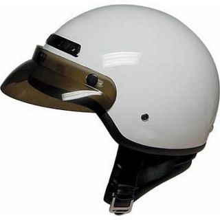 DOT 40 White Half shell Motorcycle Helmet