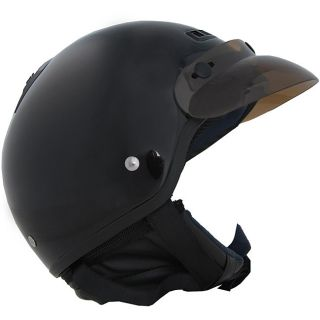 DOT 40 Black Half shell Motorcycle Helmet