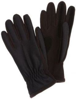 Isotoner Womens Hybrid Spandex/Fleece Glove,Black,X Large