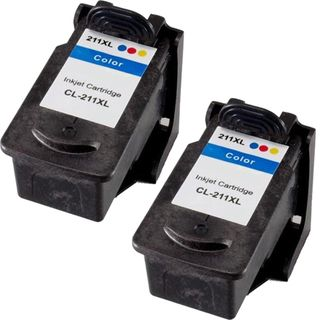 Canon CL211XL High Capacity Compatible Black/Color Ink Cartridge (Pack