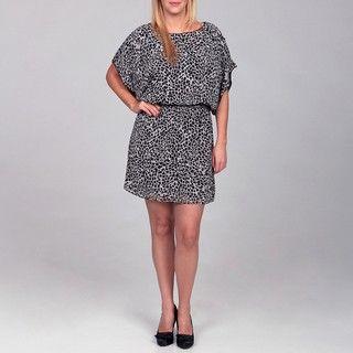 Jessica Simpson Womens Plus Size Animal Print Dress