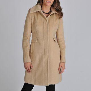 Ivanka Trump Womens Faux Alpaca Coat