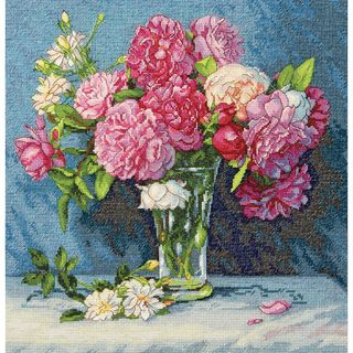 Gold Collection Marys Bouquet Counted Cross Stitch Kit 12X12