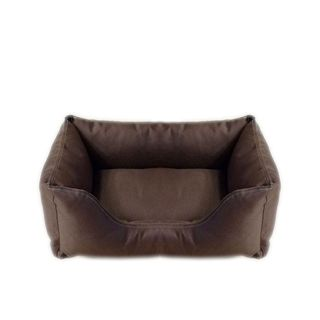 Carolina Pet Chocolate Brown Brutus Tuff Kuddle Pet Bed Lounger