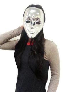 Silver Drama Face Mask Clothing