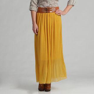 Meetu Magic Womens Majestic Gold Skirt with Pleats