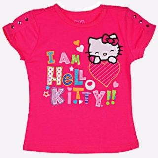 Hello Kitty Girls 2 6X I Am Hello Kitty Tab Sleeve Top