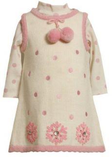 Bonnie Jean Girls 2 6X Snowflake Applique Sweater Knit