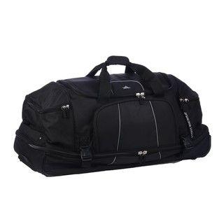 High Sierra Black Elevate 28 inch Rolling Drop bottom Duffel Bag