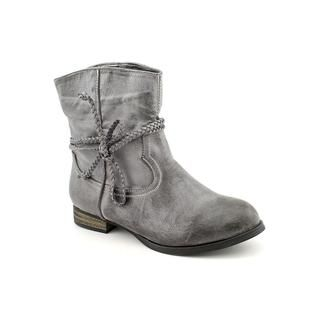 Miss Me? Womens Fray 2 Man Made Boots (Size 5.5)