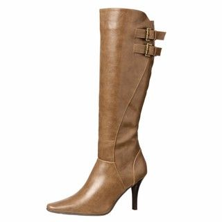 CL by Laundry Womens Sweet Heart Taupe Knee high Boots