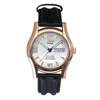 Xezo Mens Rose Gold Overlay Swiss Automatic Watch