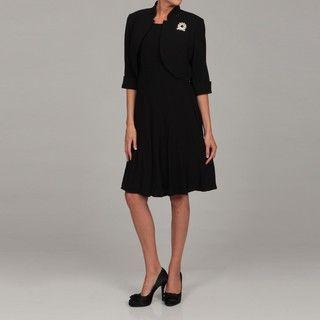 Richards Womens Black 2 piece Dress